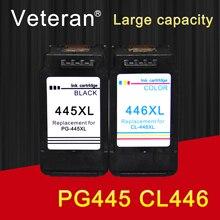 Vétéran PG445 CL446 remplacement pour cartouche dencre Canon PG 445 CL 446 pour imprimante Pixma MG2540 MX494 MG2440 MG2940 MG2942 MX492