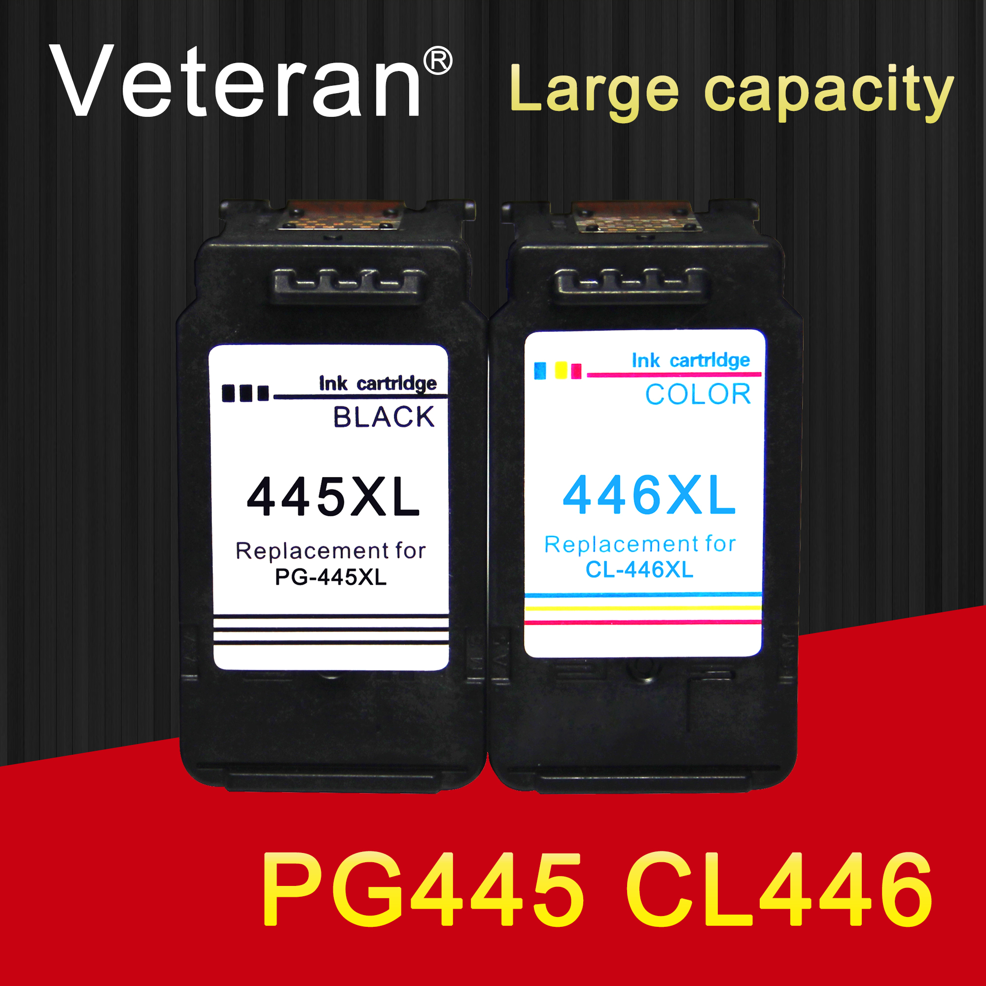 Veteran PG445 CL446 replacement for Canon ink cartridge PG 445 CL 446  for Pixma MG2540 MX494 MG2440 MG2940 MG2942 MX492 printer-in Ink Cartridges from Computer & Office