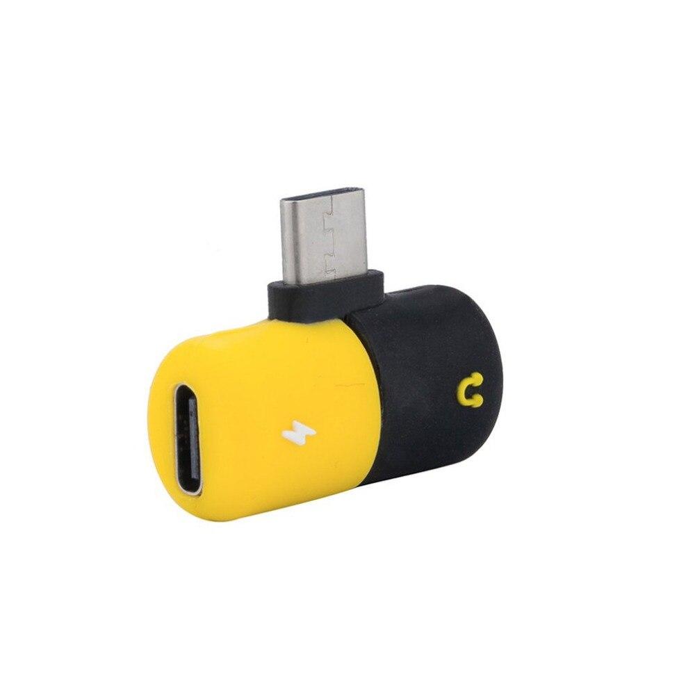Unterhaltungselektronik Funkadapter Splitter Typ C Kapsel Pille Form Schnelle Beleuchtung Lade Zu Kopfhörer 3,5mm Audio Kabel Ladegerät Adapter Für Samsung Reinigen Der MundhöHle.