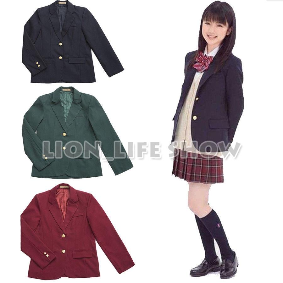 Japanese JK Women Girl School Uniform Suit Coat Jacket Outerwear Autumn 7 Colors
