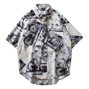 Womail Shirts Casual Blouse Short-Sleeve Beach-Tops Polyester-Printed Mens Summer New-Arrival