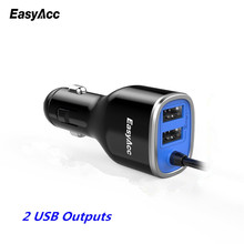EasyAcc [2 USB Ports] Car-Charger USB Quick Charge for Xiaomi Mi5 iPhone iPad Car Cigarette Lighter Socket Adapter Charge dual usb car cigarette lighter charger for ipad mini ipad 4 3 2 black
