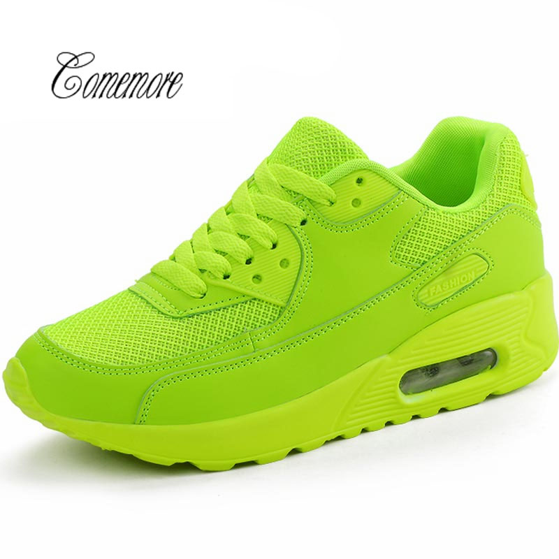 ComemoreSummer Women's Running Shoes Lady Sports Shoe Sport Men Sneakers Toning Breathable Air Shoe Green Scarpe Donna
