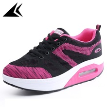 Spring 2017 Air Cushion Athletic Sport Shoes Lace-up Health Elatic Durable Running Shoes