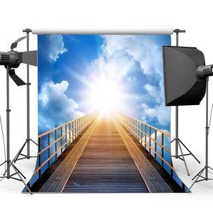 Image 1 - Escalier au ciel toile de fond escalier céleste sainte lumières arrière plan bleu ciel blanc nuage fond