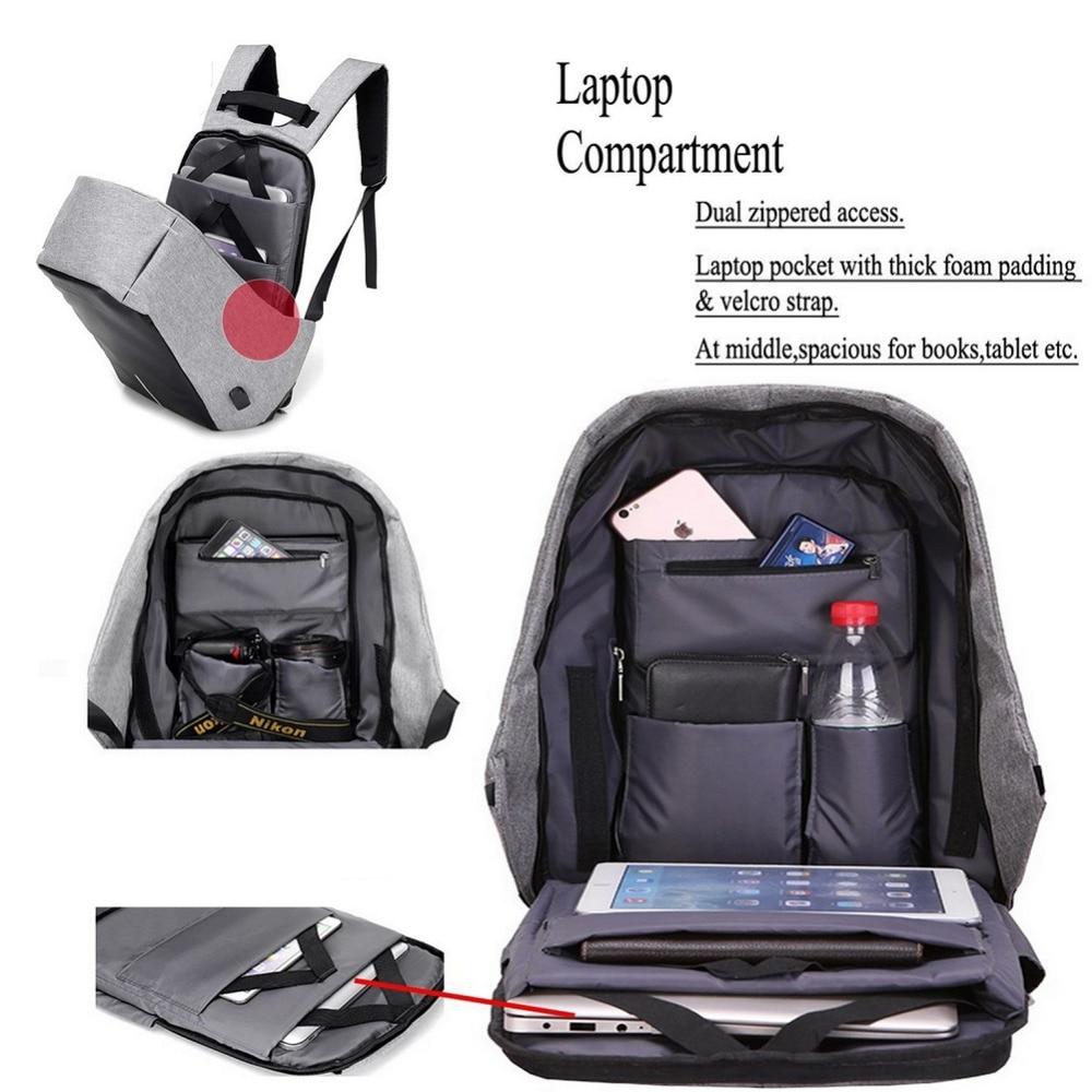 Image 4 - 15.6 Inch Laptop Backpack For MacBook Pro 15 Anti Theft 17.3 inch Laptop Bag Backpack Men/Women Oxford Waterproof Notebook BagLaptop Bags & Cases   -