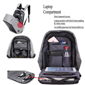 Image 4 - 15.6 Inch Laptop Backpack For MacBook Pro 15 Anti Theft 17.3 inch Laptop Bag Backpack Men/Women Oxford Waterproof Notebook Bag