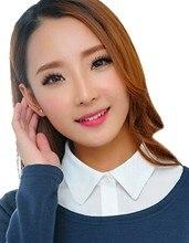 2017 New Arrival Women Shirts Plus Size Korean Lady Stylish Women's Removable Detachable Faux Lapel Shirt Collar Blouse Neck