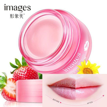 IMAGES Strawberry Lip Sleeping Mask Exfoliator Lips Balm Moisturizer Nourish Plumper Enhancer Vitamin Skin Care