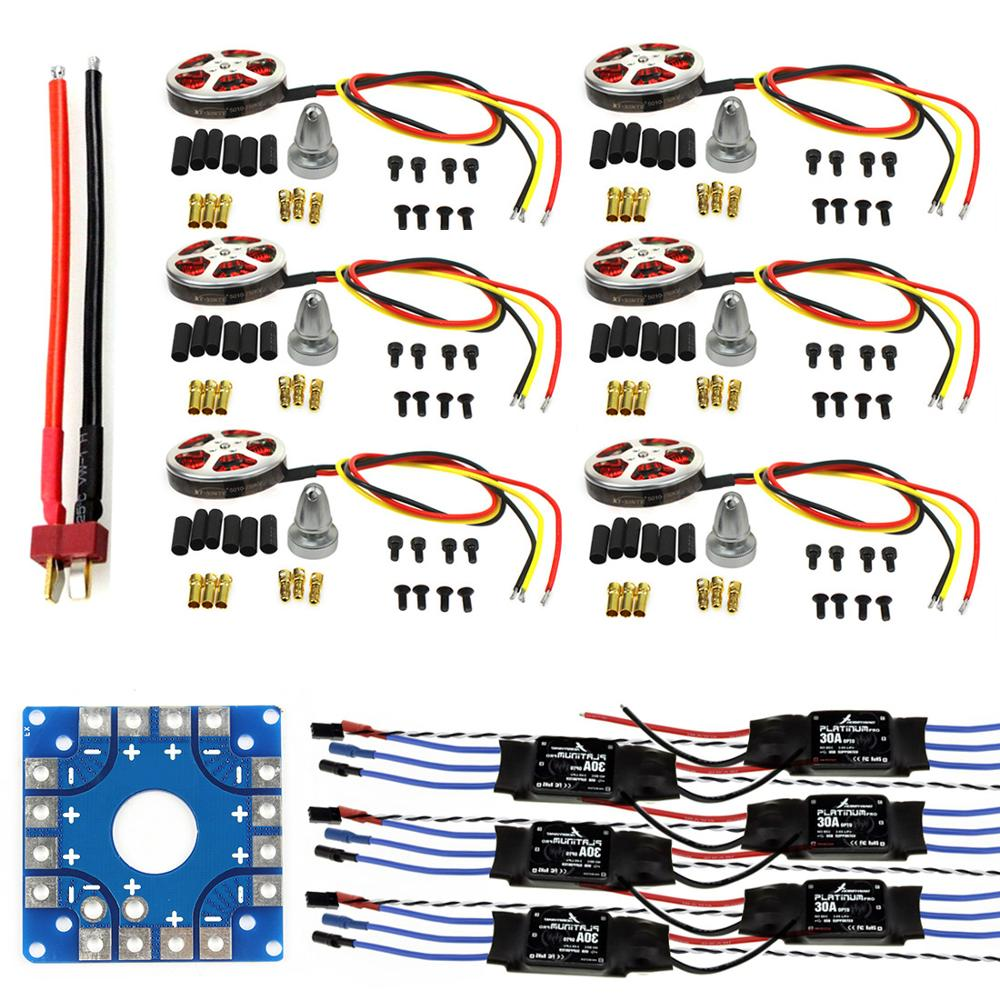 F04997 C JMT собранный комплект: 30A ESC + двигатель + KK Плата подключения ESC коннекторы Dean T штекер провода для 6 Aix Drone Hexacopter
