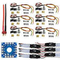 F04997 C JMT Assembled Kit: 30A ESC + Motor + KK ESC Connection Board Connectors Dean T Plug Wire for 6 Aix Drone Hexacopter