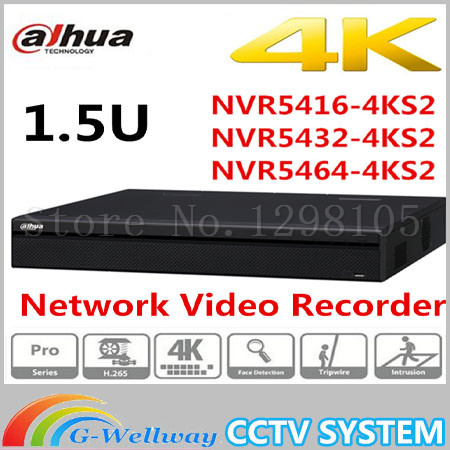 D'origine DaHua 16/32/64 Canal 1.5U 4 K Réseau Vidéo Enregistreur NVR5416-4KS2 NVR5432-4KS2 NVR5464-4KS2, livraison Gratuite.