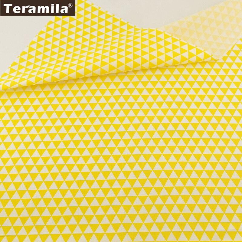 Geometría amarillo diseños teramila 100% tela de sarga de algodón trimestre gras