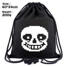 IVYYE 1PCS Sans Papyrus Fashion Canvas Backpacks Cartoon Drawstring Backpack Casual String Bags shopping Knapsack Unisex New