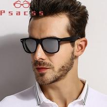 Psacss Square Polarized Sunglasses Men Driving Mirror Sun Glass Male High Quality Retro Rivet Lunette De Soleil Homme Eyewear