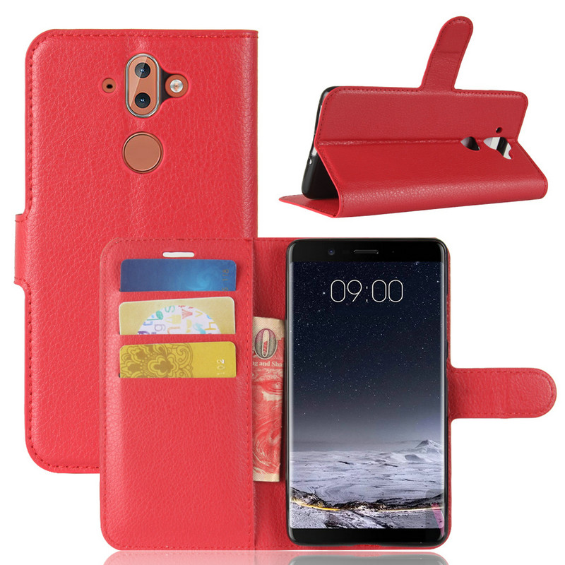 for Nokia 8 Sirocco TA-1005 WIERSS Luxury Flip Leather Case cover for Nokia 8 Sirocco phone Cover Wallet case shell+Card+Stand