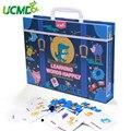 Мультяшные Обучающие английские слова Пазлы магнитный алфавит игра доска для рисования Обучающие Развивающие игрушки для детей