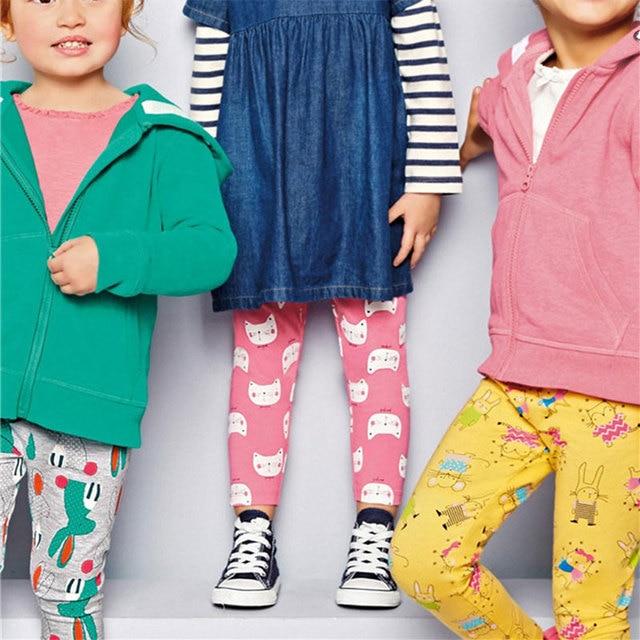Детские леггинсы детские леггинсы брюки для девочек брендовые брюки коллекция осень 2017 года панталоны с принтами с героями из мультфильма для детей Fille костюм 2–7 лет