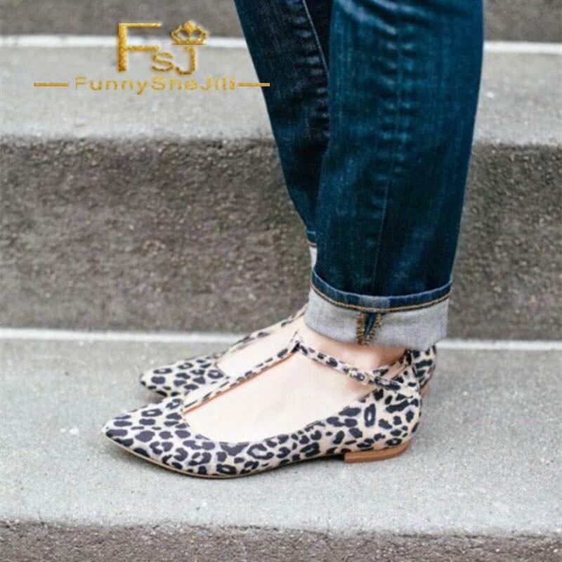 Slip strap Printemps Léopard De Daim Mode Fsj Sexy Anniversaire Été Vendredi Fsj01 En Imprimé Bout on T Confortable Appartements Noir Pointu Chaussures STfqwIIn