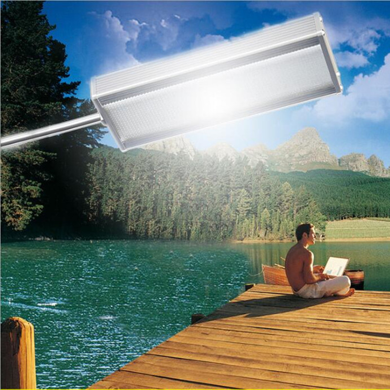 Solar Garden Street Light Motion Sensor Security 48 LED Lamp With 3000mAh Battery Super Bright Street Path Light