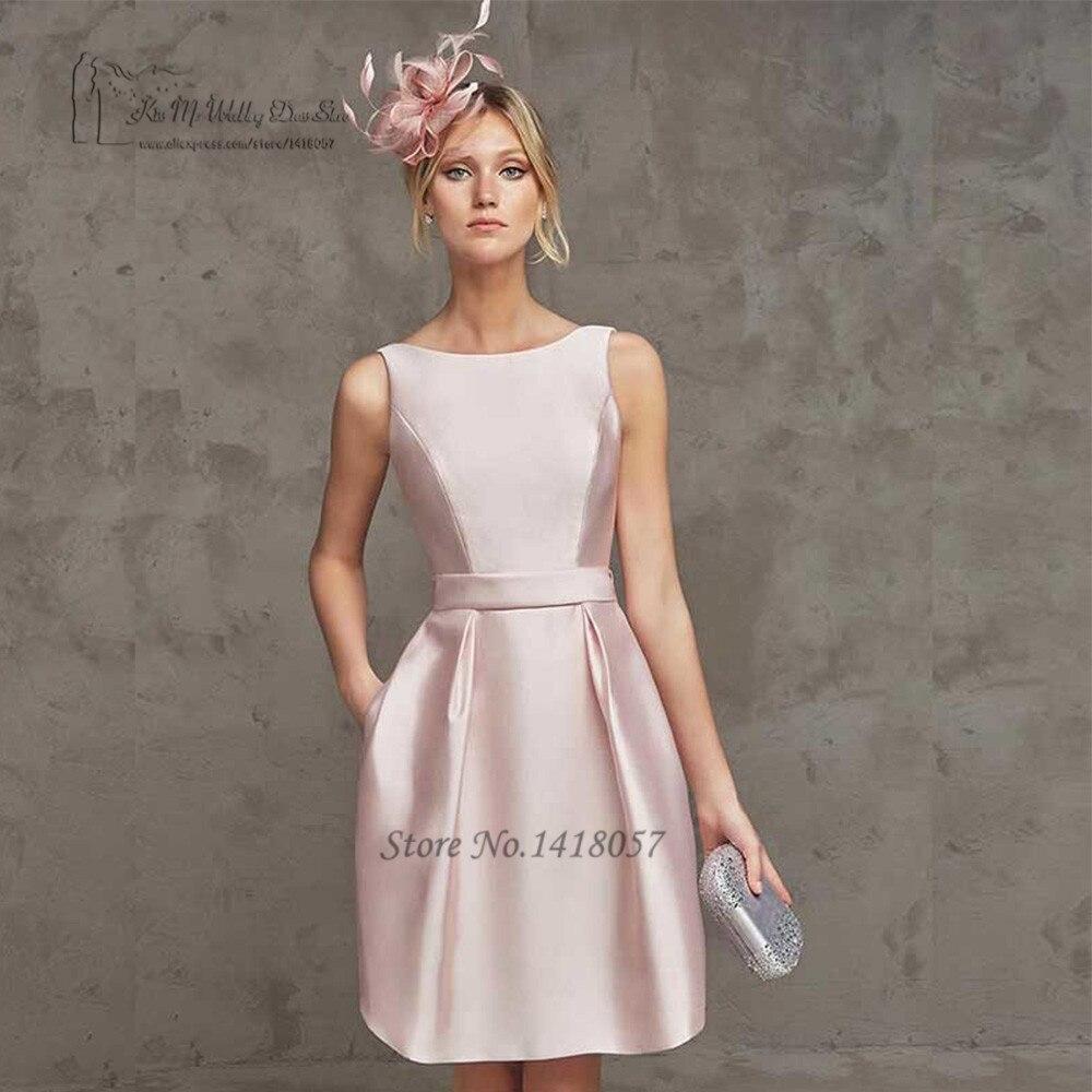 Vestido de Festa Curto Beach Backless Pink Short   Prom     Dresses   2017 Knee Length Import Evening Party   Dress   Baile Formatura Sexy