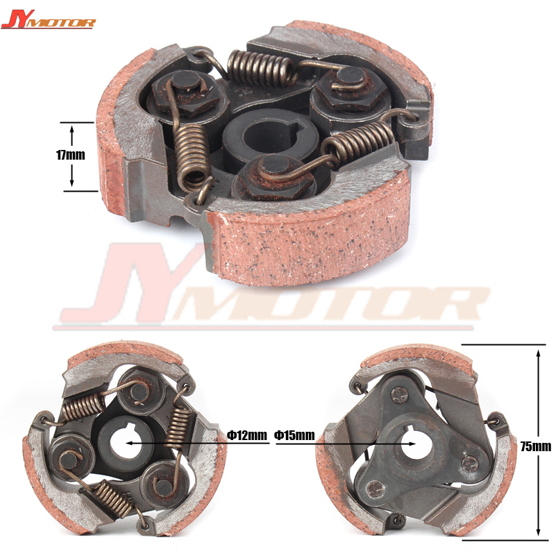2 Stroke 47cc 49cc Minimoto Centrifugal Clutch alloy Mini Moto Dirt Bike Atv Quad 3 Shoe Spring