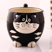 Tea coffee mugs ceramic 3D Cartoon cat owl milk cup home decor craft room wedding decoration