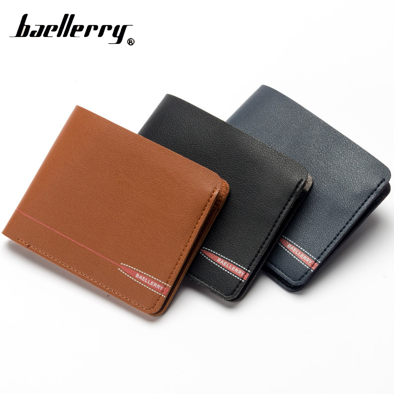 Baellerry Short Small Slim Men Wallet Male Coin Purse Cuzdan For Card Money Baellery Thin Portomonee Walet Perse Vallet Carteras document for passport badge credit business card holder fashion men wallet male purse coin perse walet cuzdan vallet money bag