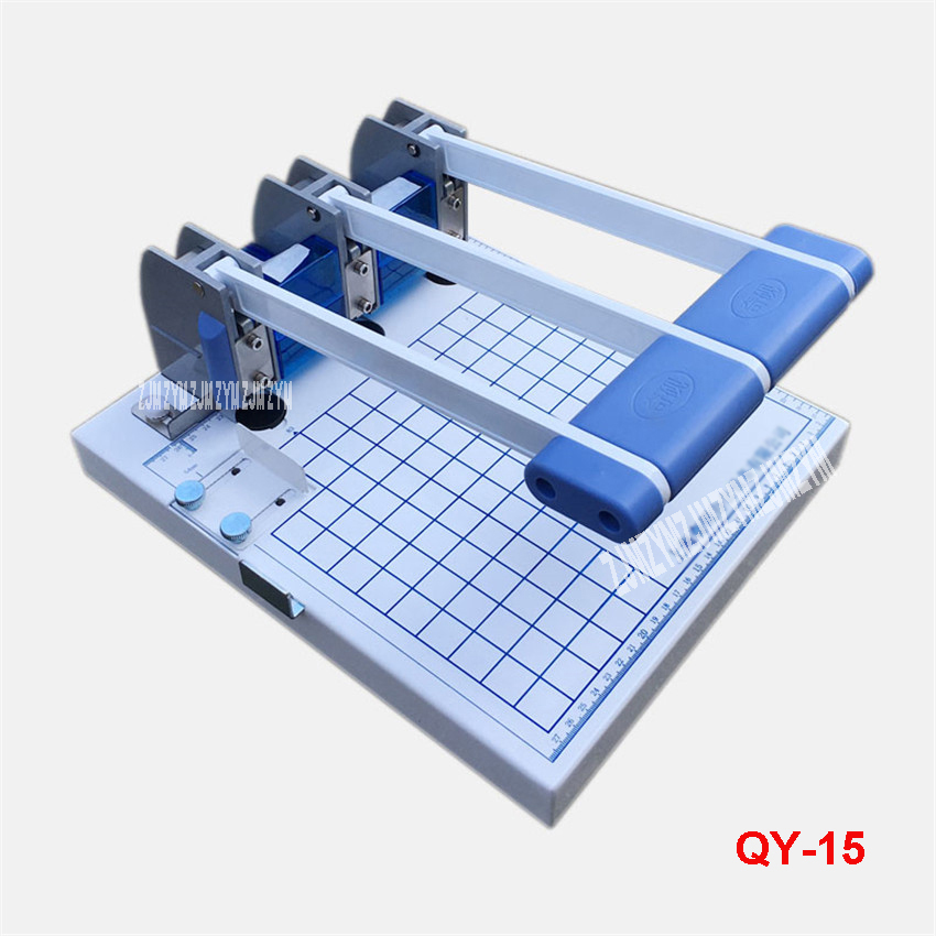 Three - Piece Binding Machine QY - 15 File Binding Machine Three - hole Punching Machine File Cover Binding Machine Hole 5mm 1pc brand new and high quality paper cutting punch combination punching hole pattern in three file binding machine