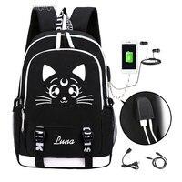 Sailor Moon Luminous Luna Cosplay Backpack Rucksack Women Men Japan Anime Laptop Schoolbag Mochila Bookbag