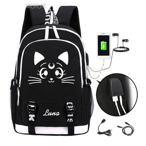 Image 1 - Sailor Moon Luminous Luna Cosplay Backpack Rucksack Women Men Japan Anime Laptop Schoolbag Mochila Bookbag