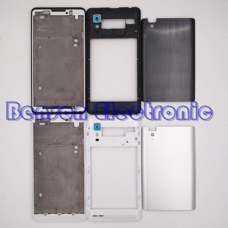 bilder für BaanSam Neue LCD Halter Frontrahmen Mittleren Frame Batterie Rückseitige Abdeckung Für Lenovo P780 Gehäuse Mit Kameraobjektiv + 3 Mt Klebstoff