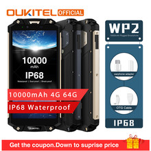 "OUKITEL WP2 10000mAh IP68 Waterproof Dust Shock Proof Smartphone 4GB 64GB MT6750T Octa Core 6.0"" 18:9 Fingerprint Mobile Phone(China)"