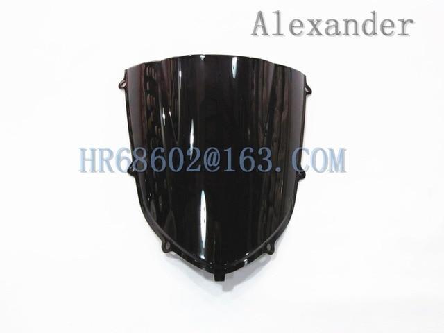 HotSale For Kawasaki ZX10R 2004 2005 ZX 10R 04 05 Black  Windshield WindScreen Double Bubble