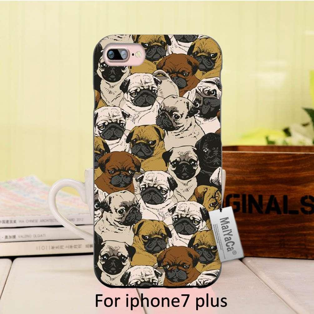 MaiYaCa Silicone case Cute lovely pug dogs animals Hot Sale Fashion Luxury cover phone case For iphone 6 6plus 7 7plus case