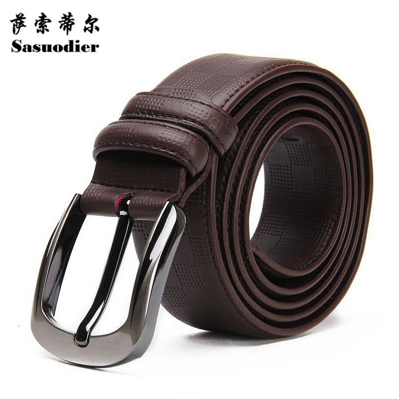 Bælte luksus læderbælte mænd mærke ægte læder 35mm vendbar spænde bælte sort brun designer bælte til mænd høj kvalitet