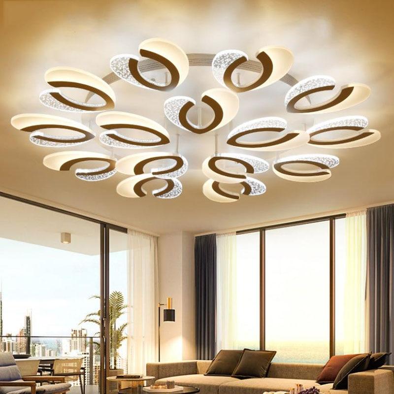 Us 10792 29 Offnowoczesny Nowy Akrylowe Led żyrandol Podsufitowy światła Do Salonu Sypialnia żyrandol Oświetlenie Led Lampadario W Oświetlenie