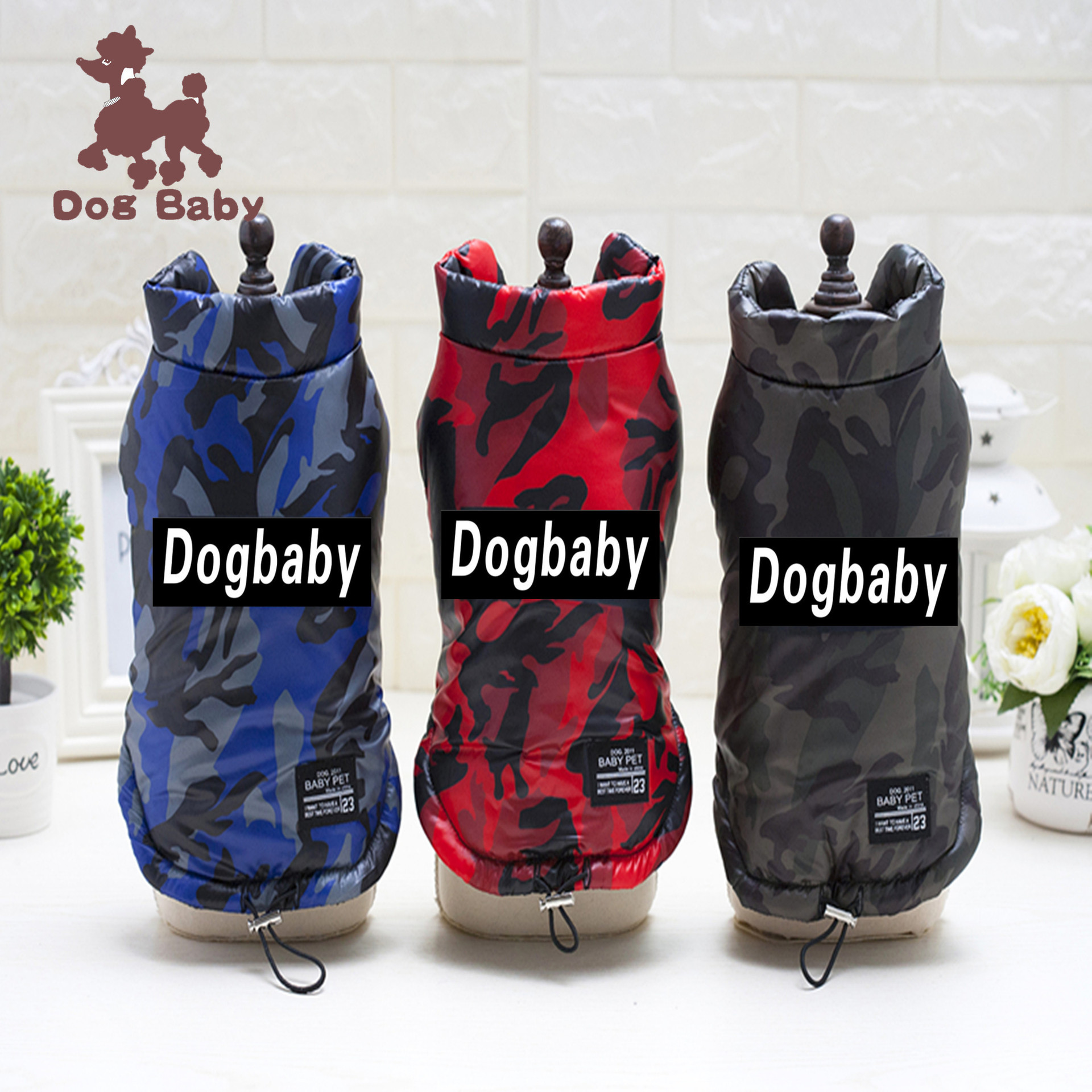Free shipping Pet dog clothes autumn and winter new classic spot wholesale camouflage cotton vest clothes for bulldogs