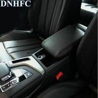 DNHFC PU Leather Car Armrest Box Cover Car Accessories For Audi A4 B8 B9 2008 2016