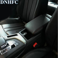 DNHFC PU leather Car Armrest Box Cover Car Accessories For Audi A4 B8 B9 2008 2016 2017 2018
