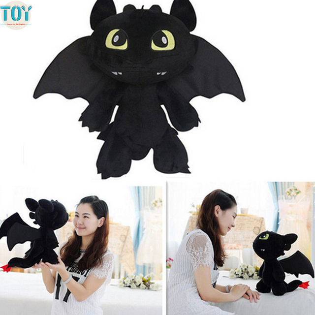 81f7f09d461 OHMETOY How To Train Your Dragon 2 Toothless Dragon Night Fury Stuffed Plush  Toy 18-30cm Anime Movie Animal Dolls Baby Toys