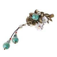New Hair Charm Chinese Style Women Vintage Bridal Accessories Woman Gift Wedding Hair Clip Head Chain Shell Flower Handmade