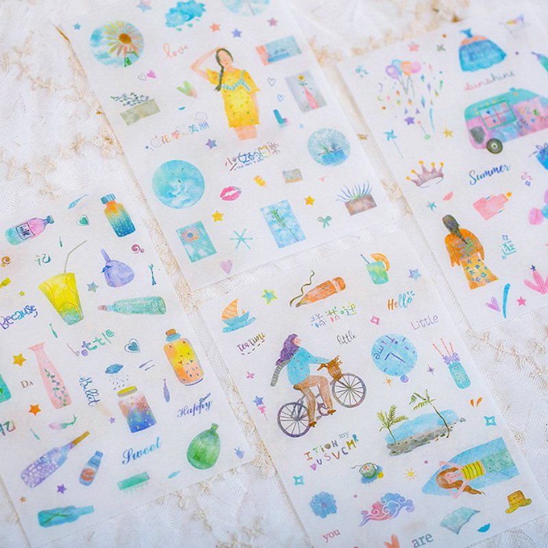 4 Pcs/lot Cute one people time stickers Kawaii Planner Diary Scrapbooking Sticker Stationery School Supplies