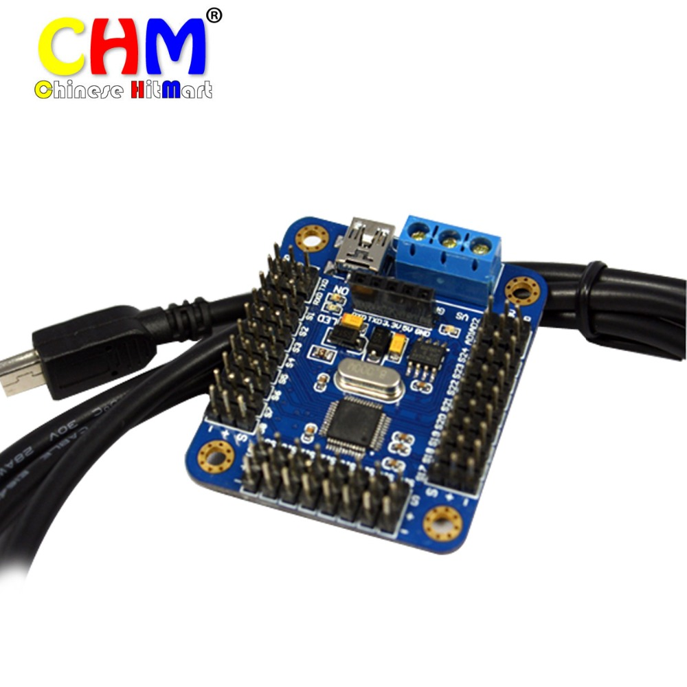 Usb 16 channel robot dc servo controll controller board for Dc motor servo controller