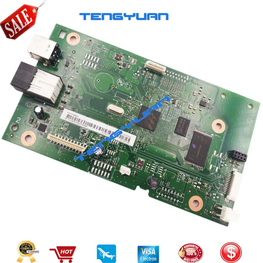 Free shipping CZ173-60001 Logic Main Board Use For HP M126nw M125nw M126 M125 126nw 125nw Formatter Board Mainboard on sale free shipping 100% test formatter board for hp 5l main board on sale