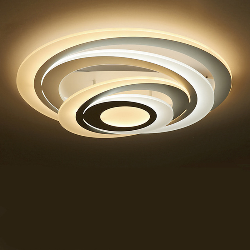 Modern Led Acrylic Ring Ceiling Light Lampara Techo With Remote Control Plafondlamp Nordic Design Avize Lamps For Living Room