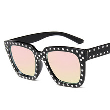 Oversize sunglasses Top Rhinestone Luxury Brand Designer Sunglasses for Women Square Shades Fashion Retro