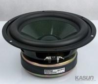 1 Uds. Kasun KS-8014 8 ''Subwoofer altavoz conductor fundición marco de aluminio envoltura de goma profunda 8ohm 200W Fs = 36Hz D220mm