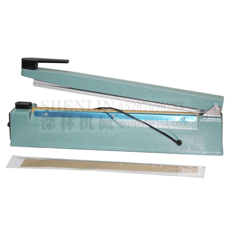 Ручной импульсный упаковщик SHENLIN, машина для запечатывания пластиковых пакетов, ручной упаковщик посылка вой фольги SF400 110 В/220 В 400 мм * 3 мм, металл-4