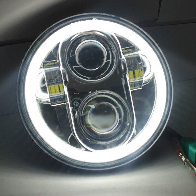 1X черный хром 5,75 светодио дный HID светодиодные фары высокого/ближнего света 5 3/4 спереди вождения головного света для Harley Daymarker проектор